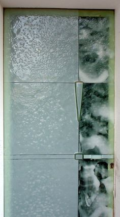 """""""CLEARWATER"""" - Glass Fused Outer Door - Signed by the Glass Art creative Josep SanJuan - Tech.: Glass Fusing"""
