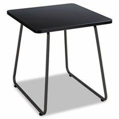 * Anywhere End Table, 20w x 20d x 19-1/2h, Black by MotivationUSA. $95.81. * The perfect partner for any guest or stacking chair. Durable melamine top on a sturdy steel sled base. Top Color: Black; Base Color: Black; Top Shape: Square.