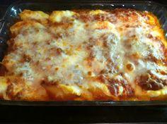 unBearablyGood: Lasagna Stuffed Pasta Shells!