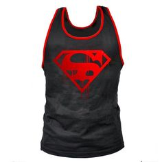 Men's Bodybuilding Tank Top with bloody Superman logo. Very comfortable cotton muscle shirt. This Muscle Men's tank top comes in several colors. At this price you should get two! Fitness Tips For Men, Male Fitness Models, Mens Fitness, Superman Logo, Stringer Tank Top, Body Building Men, Tank Top Outfits, Man Fashion, Men Styles