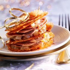 Découvrez la recette des mille-feuilles de foie gras et fruits épicés