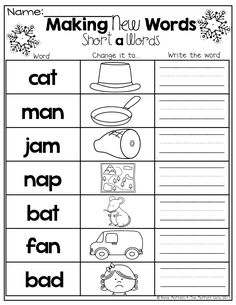 Make new words by changing the beginning sound!