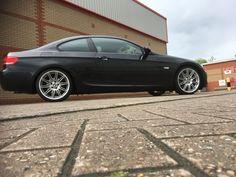 Bmw e92 325i coupe, mv4 alloys, car, sapphire black