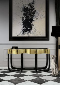 SINUOUS CONSOLE TABLE | For those who love harmonious lines mixed with exquisite detail. | www.bocadolobo.com #bocadolobo #luxuryfurniture #exclusivedesign #interiodesign #designideas #entrywaydecor #modernconsoletable