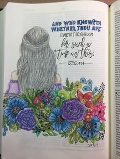 A bible journaling page to go with my current bible study of the book of Esther.