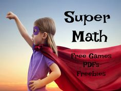 If you are looking for games and resources to enhance your math 2nd-4th grade curriculum, check out links to these great games, PDFs and even two freebies!