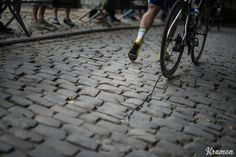An unlucky Stijn Steels (BEL/Topsport Vlaanderen - Baloise) walking up the infamous Muur van Geraardsbergen cobbles as he broke his chain coming up (& no team cars are allowed up the Muur & they await the riders at the backside of the hill)  12th Eneco Tour 2016 (UCI World Tour) Stage 7: Bornem õ Geraardsbergen (198km)