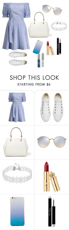 """""""Go on date with boyfriend💖💖"""" by wendyfashion on Polyvore featuring Converse, DKNY, Ray-Ban, Christian Dior and Urban Decay"""