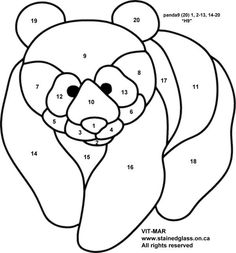 Image result for panda stained glass patterns free