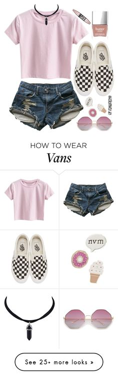 """""""afraid to open up"""" by helloimweird13 on Polyvore featuring Levi's, Vans, Red Camel, Butter London and Maybelline"""