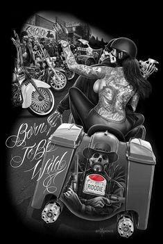 Ride or die Chicano Drawings, Chicano Art, Art Drawings, Arte Cholo, Cholo Art, Motorcycle Art, Bike Art, Arte Lowrider, Aztecas Art