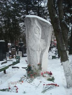 Russian Dancer in Cemetery