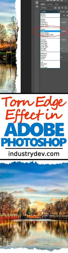 How to Create a Torn Edge Effect in Adobe Photoshop: Creating a torn paper edge effect in Adobe Photoshop is a fun way to bring a photo alive. I see it often in magazines and postcards, but it's becoming more popular with all different types of photography, such as wedding and portrait. Whatever the reason, learning the hows and whats behind this type of look is an important part of your graphic design and photo editing journey. Click through now to see how easily this can be accomplished.