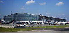 Heathrow T5 - Reino Unido -  o mais movimentado do mundo em número de passageiros internacionais.