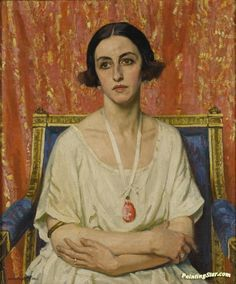 Credit: © Estate Of Dame Laura Knight DBE Lubov Tchernicheva 1921 One of a series of backstage portraits Laura Knight made of the dancers of the Ballets Russes 'in the nervy calm of their dressing rooms'. Female Portrait, Portrait Art, Female Art, Ballet Russe, Munier, Leila, Knight Art, English Artists, British Artists
