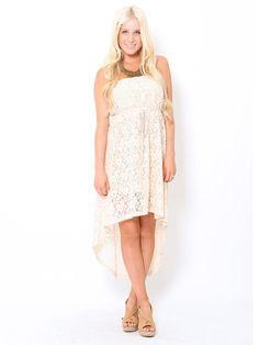Crochet #Lace High Low #Dress