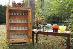 Mason Jar Drinking Station- Great idea!