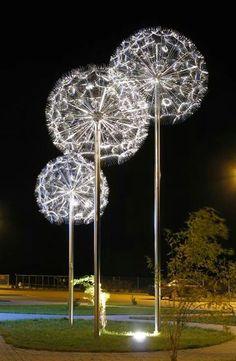 The Dandelion Light Sclupture by Miroslaw Struzik