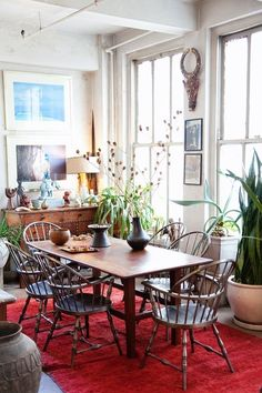 That Rug Really Tied the Room Together: How to Pick the Perfect Rug for Your Space jungle apartment therapy That Rug Really Tied the Room Together: How to Pick the Perfect Rug for Your Space Decoration Inspiration, Interior Inspiration, Decor Ideas, Home And Deco, Fashion Room, Apartment Therapy, Home Remodeling, Living Spaces, Sweet Home