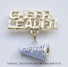 Cheerleader Captain pin as a gift!