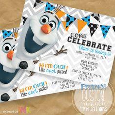 Olaf PRINTABLE Frozen Invitation by SplendidINK on Etsy, $15.00