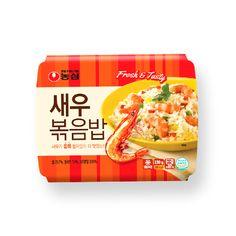 새우볶음밥(트레이타입) 큰이미지 Visual Communication Design, Canteen, Living Room Kitchen, Package Design, Noodles, Packaging, Tasty, Graphic Design, Snacks