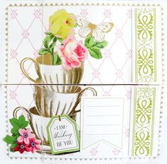 """Continuous Card Kit - 20 cards - Panel 4 """"I Am Thinking Of You"""" Infinity Card, Never Ending Card, Slider Cards, Card Making Kits, Anna Griffin Cards, Foil Paper, Travel Cards, Craft Day, Paint Set"""