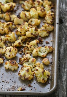 parmesan roasted cauliflower - the best veggie dish in the history of the world :)