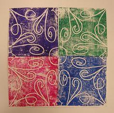 Art. Paper. Scissors. Glue!: Radial Symmetry Prints