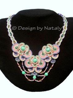 Soutache Jewelry #Handmade #NecklacePendant