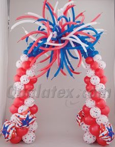 4th of July Balloon Arch
