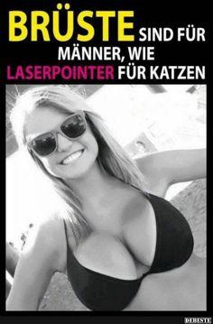 Brüste sind für Männer, wie Laserpointer für Katzen.. | Lustige Bilder, Sprüche, Witze, echt lustig