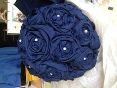 A few finished DIY projects: Navy Blue and Yellow wedding! :  wedding Photo6