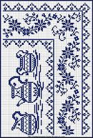 Xstitch olde worlde for a tray cloth