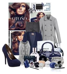 """""""36 Pure Fashion - The Blue and the Grey"""" by kat969 ❤ liked on Polyvore featuring Jil Sander, Juicy Couture, Shiseido, Oscar de la Renta, Steve Madden, Emporio Armani, Aspinal of London, Viktor & Rolf, NARS Cosmetics and H&M"""