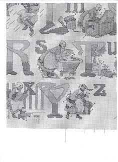 Blackwork, Le Point, Normand, Cross Stitch, Number 3, Vintage, Ideas, Alphabet, Punto De Cruz
