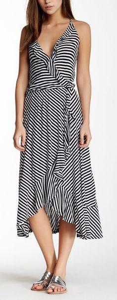 Ella Moss | Mallory Stripe Faux Wrap Dress