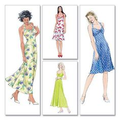 McCall's Pattern Misses' and Miss Petite Dresses, (8, 10, 12, 14)