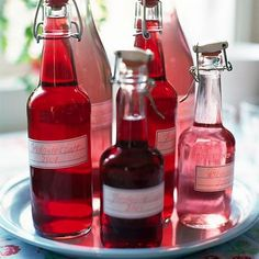 Strawberry and rhubarb cordial