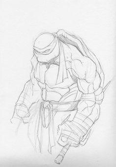 Raphael Sketch by GavinMichelli on DeviantArt Ninja Turtle Drawing, Turtle Sketch, Ninja Turtles Art, Teenage Mutant Ninja Turtles, Comic Drawing, Drawing Sketches, Cool Drawings, Cartoon Cartoon, Comic Books Art