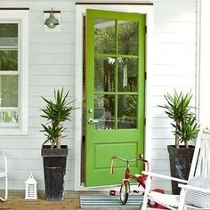 Boost curb appeal by freshening up the front door paint