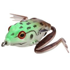 Item Specifics: Category:Frog Lure Bait Length:55mm Net Weight:17.5g Color: Shown as picture Features: 100% Brand new and high quality. They are made of durable soft plastic They are perfect at any tr
