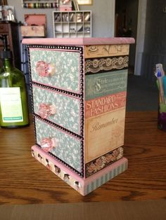 What a lovely A Ladies' Diary Altered wooden dresser! By @Maggie Lara. Simply beautiful! #graphic45