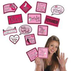 Bachelorette Photo Fun Signs (12 Packs)