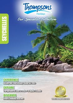 Garden Of Eden, Brochures, Seychelles, Cruise, Island, Holidays, Explore, Beach, Travel