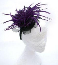 Purple Fascinator  Set onto a black headband. 2a0b629b47c