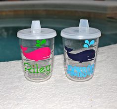 Great Idea Monogrammed Sippy Cups For My Little Monkey
