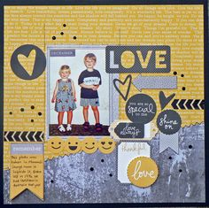 """<p>Hi there, it's Pam again with another layout using the fabulous 'Shine Bright' collection from Kaisercraft. As soon as I saw this collection I knew I had a perfect photo to go with it. This photo of my two was taken way back in 1994 when we were in Australia <a href="""" http://www.merlyimpressions.co.uk/blog/project-portfolio/scrapbooking/a-summertime-shine-bright-layout/ """"> …click to read more</a></p>"""