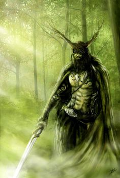 The Greenman  Cernunnos/Herne the Hunter... Forest Guardian...By Artist Unknown...
