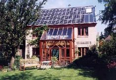 Traditional solar panels are very modern. Trying to incorporate modern panels with traditional building materials. Not working aesthetically.